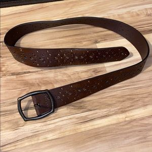 Cute brown Belt with designs and jewels